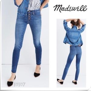 Madewell 9 inch button through skinny